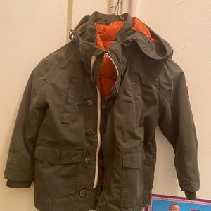 Army green H&M jacket with the lining